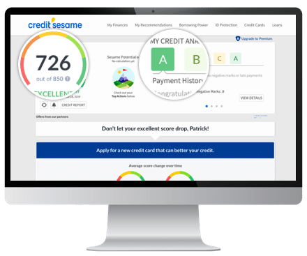 Free Credit Report Score >> Free Credit Score From Credit Sesame No Credit Card Required