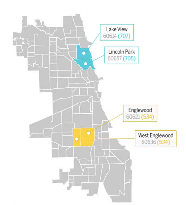 Chicago Zip Code Map 2016.Research Report The State Of America S Credit Health Credit Sesame