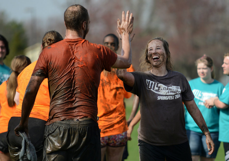 The University of Illinois Springfield hosted the annual Springfest competition in 2014. The theme was Clash of the Comics and teams participated in a variety of events throughout the week, including a scavenger hunt, flag and chant, and sports day. Image source: http://bit.ly/1UydHSv