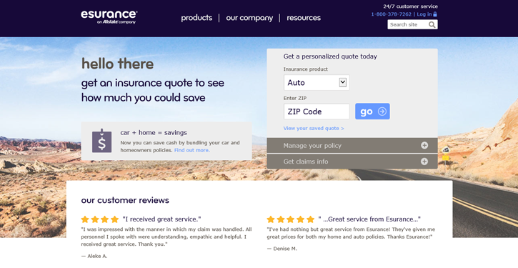 Image of: Inspirational Usaa Esurance Insurance Review 2016 Esurance Esurance Insurance Review 2016 Credit Sesame