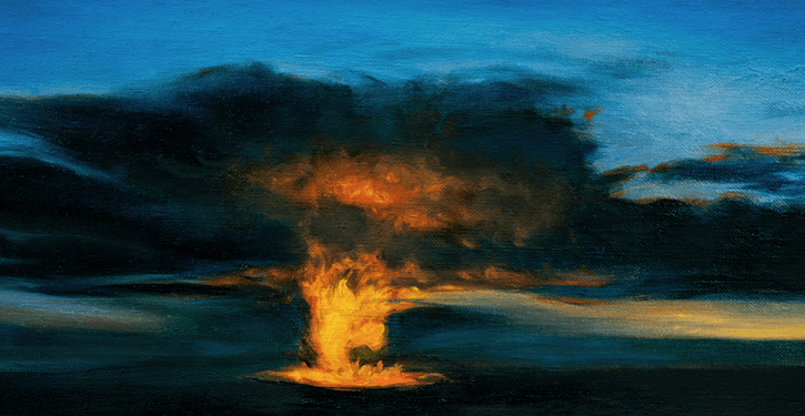 Image Credit | Volcano Night © Katherine Kean oil on linen 8 x 16 inches