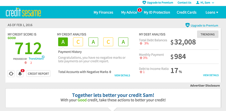 Credit Score Report >> Credit Sesame Addresses The Confusion What Credit Score We Use